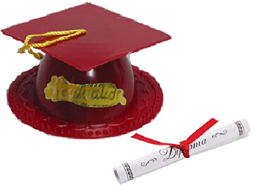 Oasis Supply Graduation Cap Cake Topper with Diploma, -