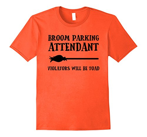 Mens Broom Parking Attendant Funny Halloween Costume T-shirt Large (Simple Yet Cool Halloween Costumes)