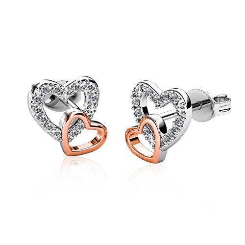 (Alaxy Earrings Made with Swarovski Crystal -