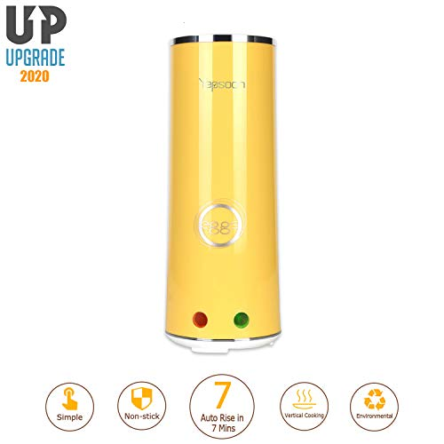 Egg Cooker Egg Roll Maker Automatic Hard Boiled Egg Cookers Rapid Egg Cooker Multifunction Breakfast Eggs Sausage Boiler Omelet Maker Microwave For Kids&Adult New Version of 2020 Single Tube (Cheese And Maker Sausage Egg)