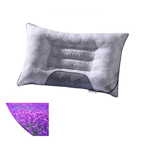 Little Happiness- Semi-Magnetic Buckwheat Pillow Neck Breathable Orthopedic Cassia Cervical Health As Lavender Pillow Easy to wash,Lavender,one Size (Couch Ebay Pillows)