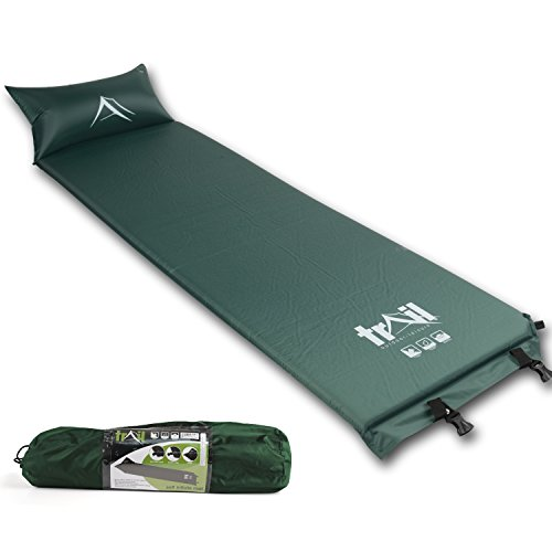 Trail Self Inflating Camping Mat Pillow Inflatable Sleeping Camp Roll...