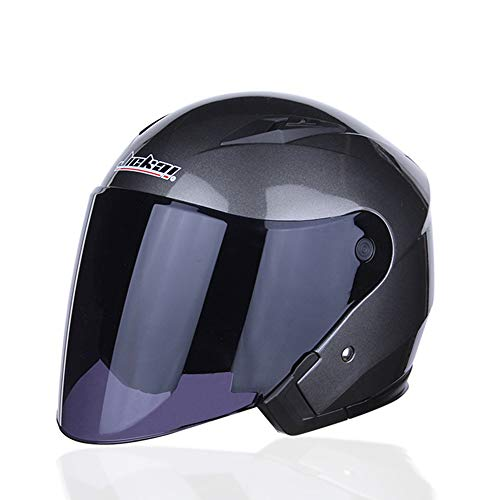 Yrffdk 5 Colors Modular Full Face Flip up Motorcycle Motorbike Helmet with Dual Sun Visor DOT Approved Men and Women,Metallic,XXL