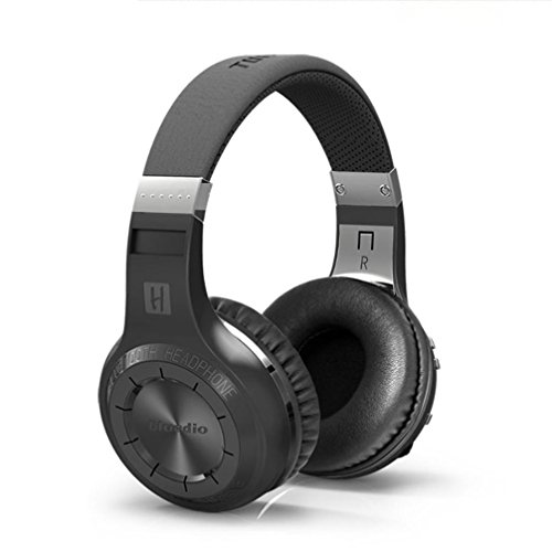 Wireless Headphone, Keepfit Turbine Hurricane Bluetooth V4.1 Earphones Stereo Surround Sound Headset With Microphone for iPhone, Samsung, Android, IOS (Black)