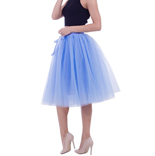 Jupon Rockabilly en Lake tulle Jupe Pettiskirt Femme varies tutu couleurs Bleu courte SqdFqx