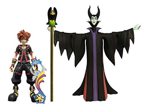 DIAMOND SELECT TOYS Kingdom Hearts 3: Maleficent & Sora Action Figure 2 Pack, Multicolor (Kingdom Hearts 2 Sora Figure)
