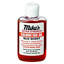 Atlas Mike's Shrimp Glow Scent Oil for Fishing Bait to Attract Fish, 2-Ounce, Red