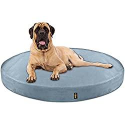 KOPEKS Deluxe Orthopedic Memory Foam Round Dog Bed - Jumbo XL - Grey