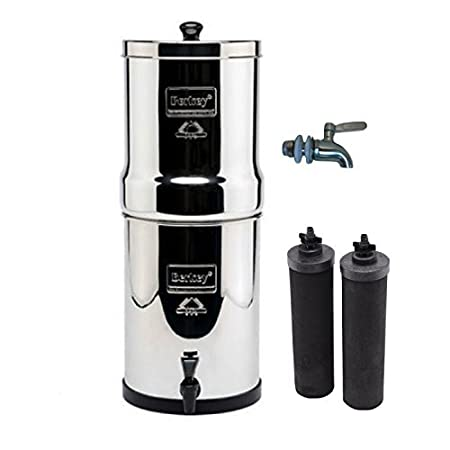 travel berkey stainless steel water filtration system w/ stainless ...