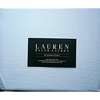Lauren Ralph Lauren 4 Piece Cotton King Size Sheet Set - Azure