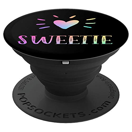 Sweetie Gift Heart Rainbow Watercolor Love Name Sweetie - PopSockets Grip and Stand for Phones and Tablets