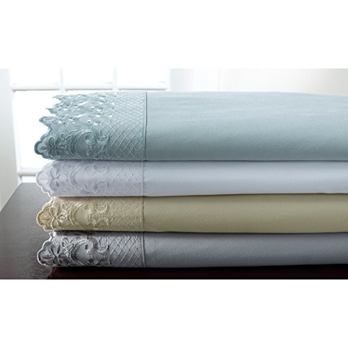 Elite Home Products, Inc. Hotel Lace Microfiber Sheet Set Spa 3 Piece Twin by Elite Home Products, Inc. (Image #1)