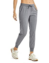 Women's Lightweight Joggers Pants with Pockets Drawstring Workout Running Pants with Elastic Waist