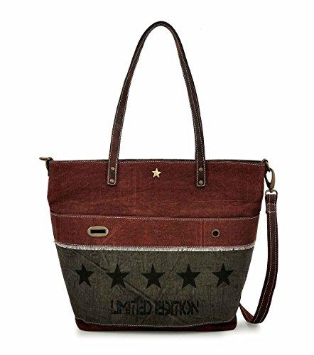 Canvas Tote bag for Women Girls Leather Trims Work Travel Shopper Backpack Cross body Hobo Messenger Shoulder Purse by Daphne (5 Star)