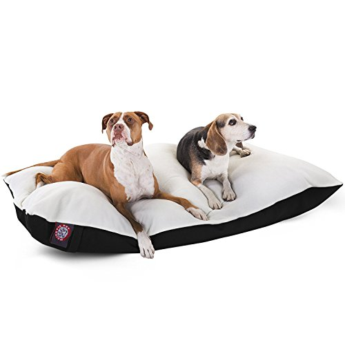 42×60 Black Rectangle Pet Dog Bed By Majestic Pet Products Extra Large