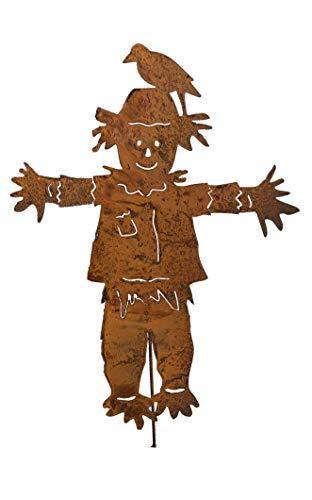 (Scarecrow Garden Stake, Metal, Large,)