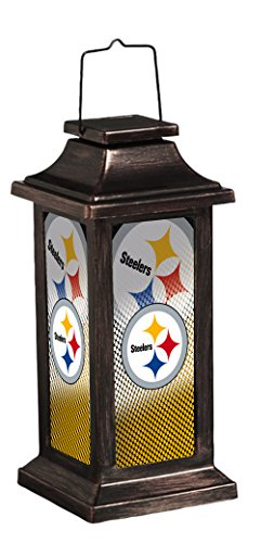 Gnome Pittsburgh Steelers (Team Sports America Pittsburgh Steelers Solar-Powered Outdoor Safe Hanging Garden Lantern)