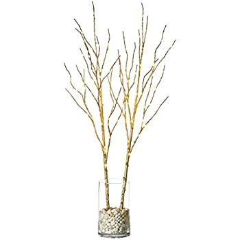 Amazon Com Hairui Lighted Willow Branches Golden With