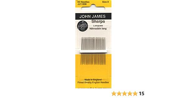 JJ110-08 Sharps Hand Needles-Size 8 20//Pkg