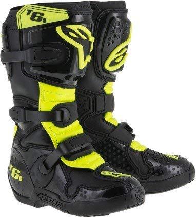 Alpinestars Tech 6S Youth Boots - Black/Yellow (6)