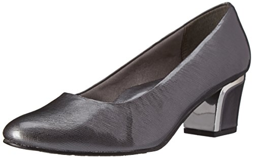 (Soft Style by Hush Puppies Women's Deanna Dress Pump, Dark Pewter, 6 W US)