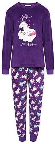 Fille Polaire Pyjama Chouette Love You Licorne R/êve Brod/é Selena Souple Pyjama