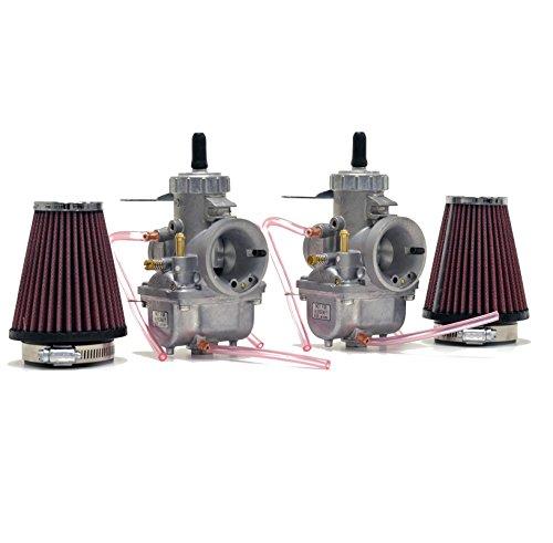 Honda CB350 CL350 Mikuni VM30 30mm Carb Carburetor Kit Cables NCS247 by Niche Cycle (Mikuni Cable)