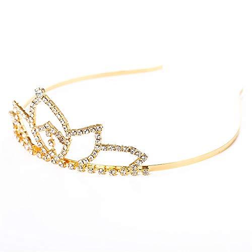 Pearl Bridal Queen Crowns Handmade Tiara Headband Crystal