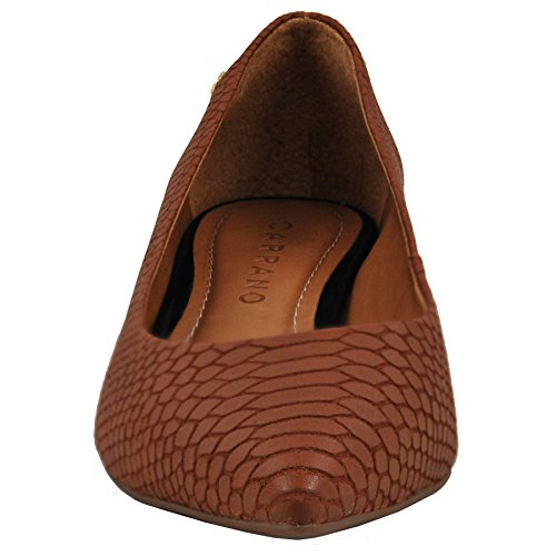 Carrano Mujeres Leather Snake Texture Flat Bronze