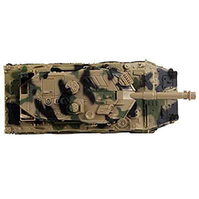 Vokodo Military Tank Battle Truck Toy Push and Go with Lights and Sounds Durable Quality Pivoting Top Friction Power Kids Armored Vehicle Play Army Car Great Gift for Children Boys Girls Camouflage: Toys & Games