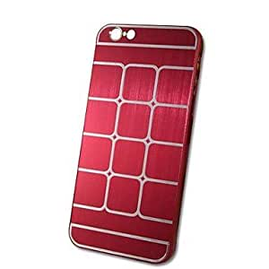 Mini - HHMM Metal Plaid PC Hard Case for iPhone 6 Plus Case 5.5 inch , Color-Pink
