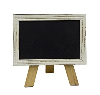 amazon com mini free standing wood frame chalkboard for counter