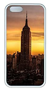 Brian114 iPhone 5S Case - City New York 6 Back Case Cover for iPhone 5 5S Soft Rubber White Cases