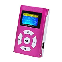 Start Mini Protable USB Mini LCD Screen MP3 Player Support 32GB Micro SD TF Card-Red