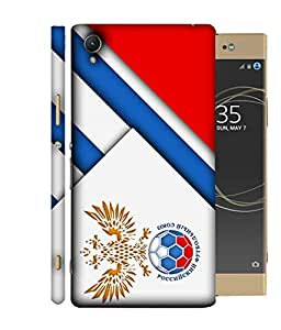 ColorKing Football Russia 18 White shell case cover for Sony Xperia XA1 Plus