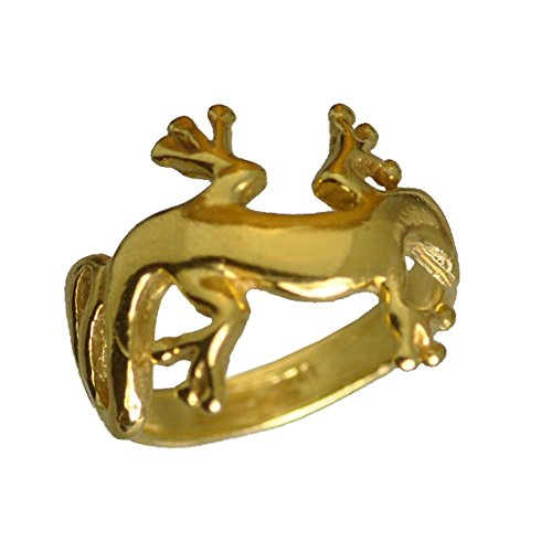 24kt gold plated over real solid STERLING SILVER 925 New Celtic Lizard Gecko