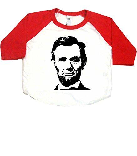 Abraham Lincoln Baby Baseball Shirt, 6-12 mo, White/Red