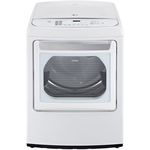 LG DLGY1702WE SteamDryer 7.3 Cu. Ft. White With Steam Cycle Gas Dryer – Energy Star
