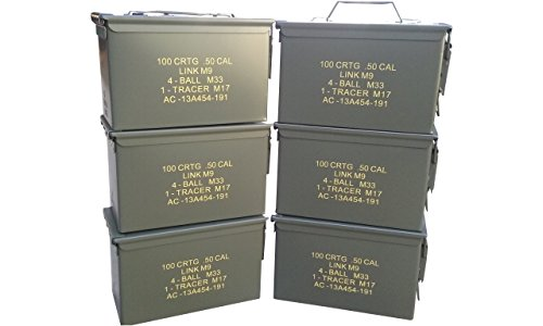 Ammo Can Man, LLC New Stenciled 50 Cal ammo can (6 Pack) by Ammo Can Man