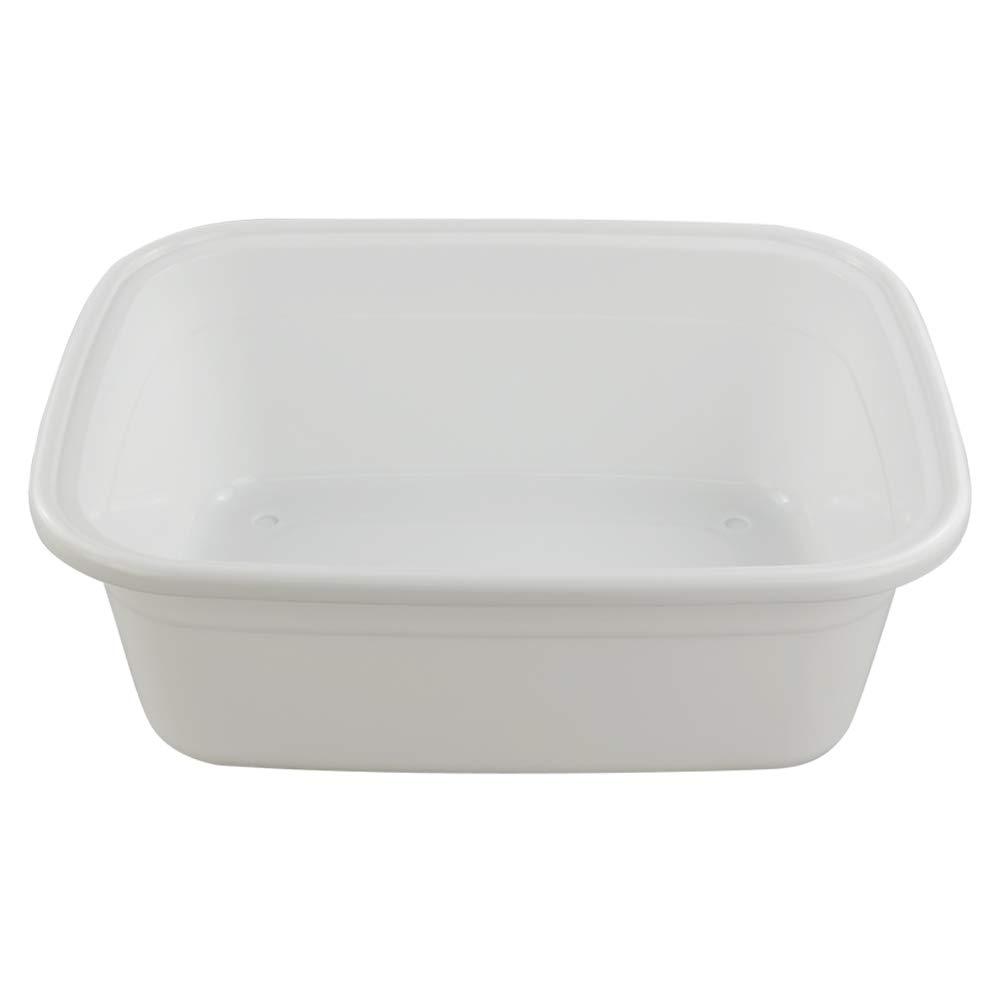 Rectangular Ordate Blanco Bandejas Cubeta Cubetas Barre/ño Barre/ños de Plastico Grande 1 Paquete