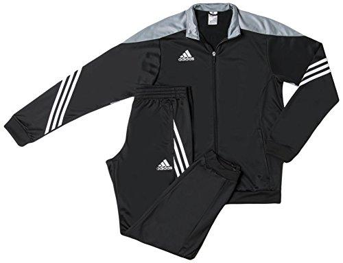 adidas Fußball bekleidung Sere14 Präsentations Trainingsanzug, schwarz/light grau/weiß, L, F49712