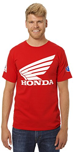 JH Design Honda Logo T-Shirt Red Crewneck T-Shirt (X-Large, (Honda Racing Shirts)