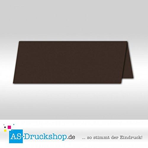 Tischkarte Platzkarte - Schoko - satiniert 100 Stück 10,0 x 4,5 cm B079Q618MG | Attraktive Mode