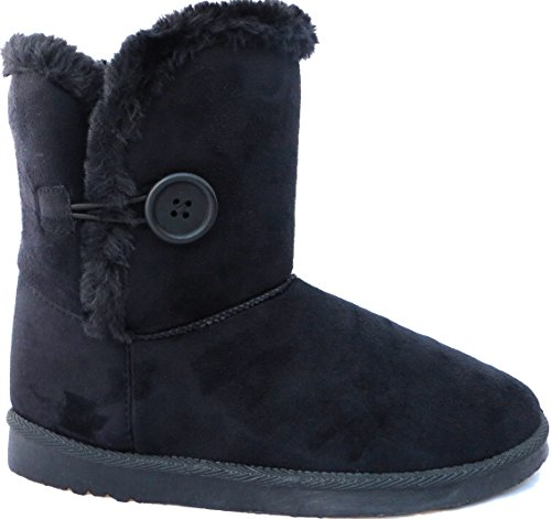 MASSIVE SALE Button Winter one Snug Ankle Lined Fur 1 up Flat runs SOLES Styles order small size Many Black Boots HARD qw6pPvIpF
