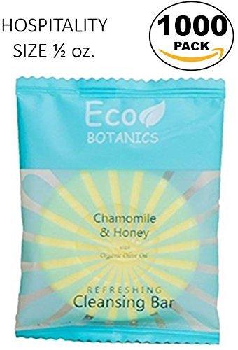 Eco Botanics Travel-Size Hotel Cleansing Bar Soap, .5 oz (Case of 1000)