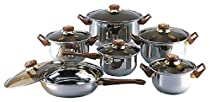 18/10 STAINLESS STEEL Gourmet Chef 12-piece Covered Cookware Set Pots and Pans by Gourmet Chef