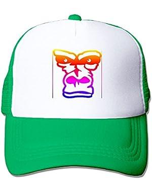 Custom Fashion Unisex-Adult Baby Girl Gorillas Trucker Cap Hat Kellygreen