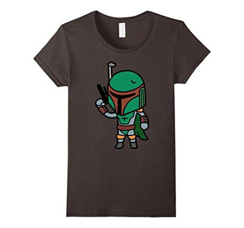 Womens Star Wars Boba Fett Cute Cartoon Style Graphic T-Shirt Small (Boba Fett Female)