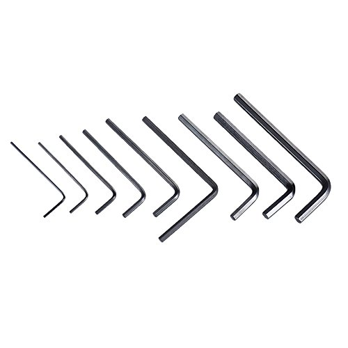 ammoon 9pcs Guitar Bass Neck Bridge Screw Truss Rod Adjustment Wrench Set Repair Tool