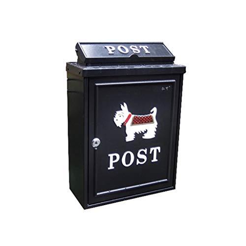 MDMMBB European Letter Box Outdoor rainwater Villa Mailbox Wall Hanging Lock postbox Large Rural Creative Letter Box (Color : B)